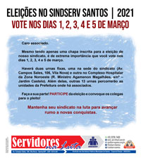 Boletim Servidores na Luta Especial Eleição (fevereiro de 2021)
