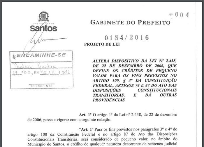 Projeto de Lei atrasa pagamentos judiciais