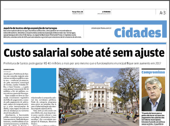Jornal A Tribuna, 28/02/2017
