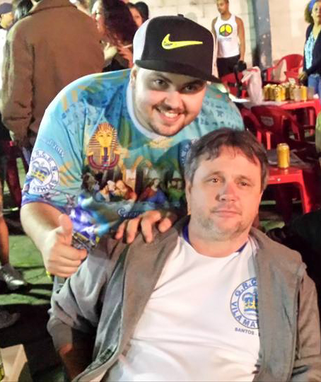 Presidente do Sindest, Fábio Pimentel (à direita), e seu filho (à esquerda) que administrava perfil fake pra atacar o SINDSERV