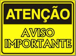ATENÇÃO: Aviso importante!
