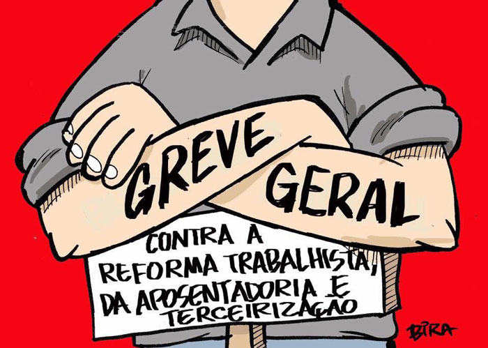 Charge do Bira: GREVE GERAL