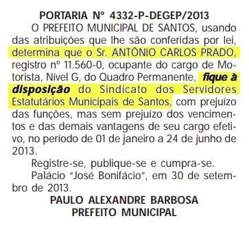 Diário Oficial, 23/10/13