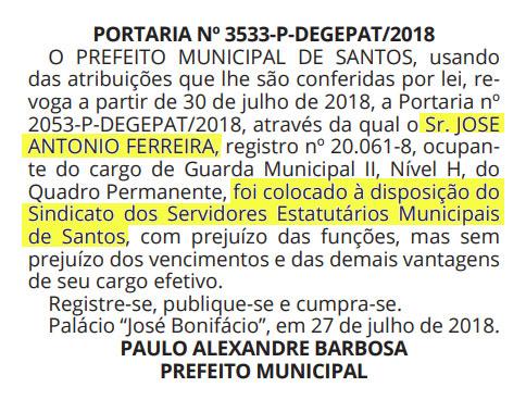 Diário Oficial, 30/07/18
