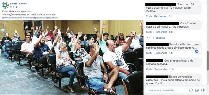 Foto da Assembleia vazia aprovando a proposta rebaixada do governo