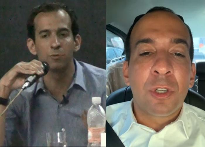 Fotos do prefeito antes da eleição e agora espalhando fake news