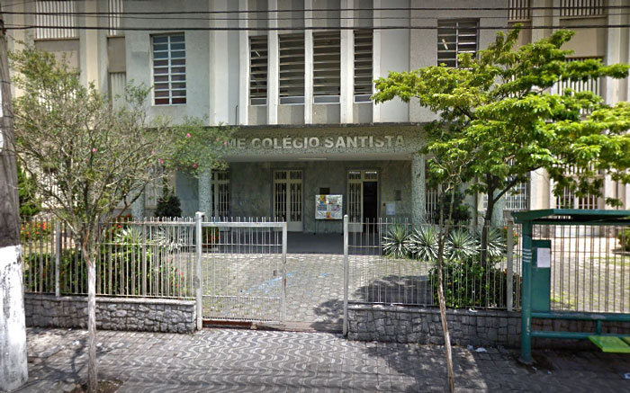 Imagem da frente da UME Colégio Santista