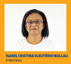 Isabel Cristina Eleutério Wallau, Enfermeira