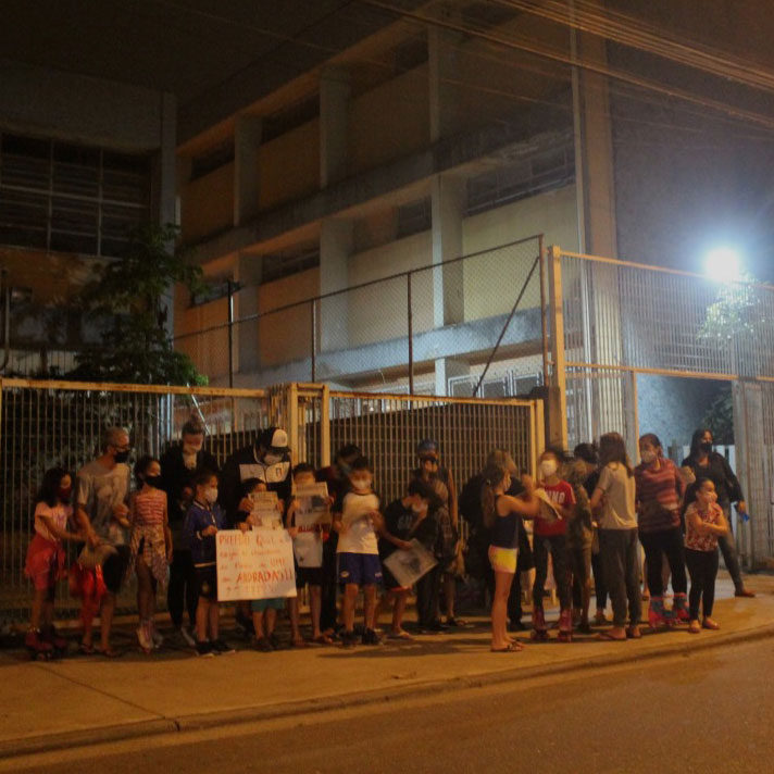 Pais e trabalhadores na luta por reforma na UME Andradas 2
