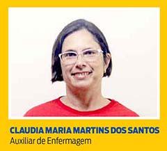 Claudia Maria Martins dos Santos, Auxiliar de Enfermagem
