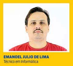 Emanoel Julio de Lima, Técnico em Informática