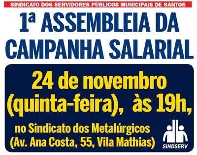 Cartaz da assembleia
