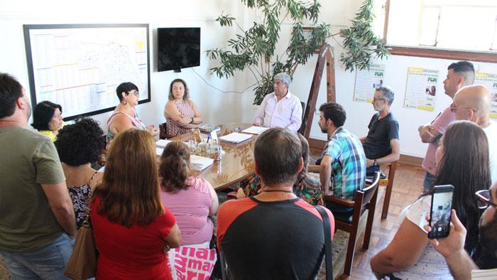 Foto da primeira reunião com o governo sobre a Campanha Salarial 2019