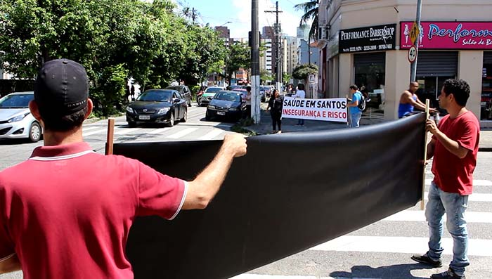 Manifestação contra insegurança