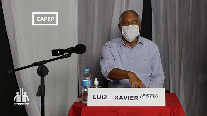 Foto do Luiz Xavier (PSTU)