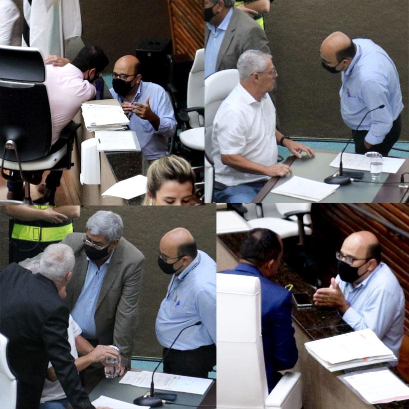 Prefeito mandando nos vereadores através do Secretário de Gestão, Rogério Custodio