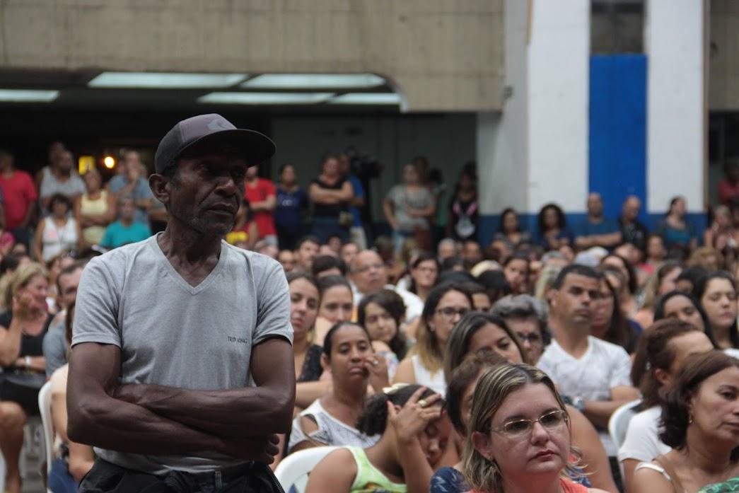 Severino em uma das assembleias da greve de 2017