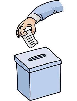 Ilustração de votação