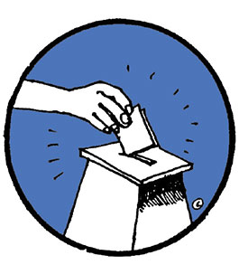 Ilustração de votação (Laerte)